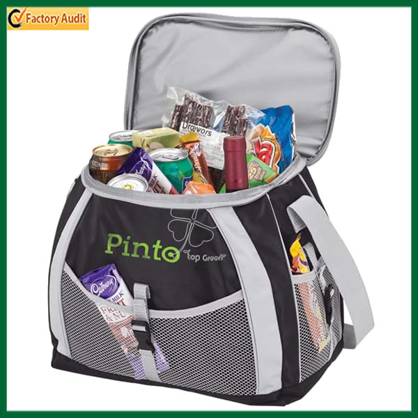 Promotional Food Delivery Insulated Cooler Bags Cheap PP Non Woven Laminated Coolers Bags TPCB321