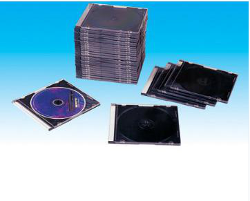 CD Case blank dvd Cover blank CD Box 52mm silm square with black trayYPE501H