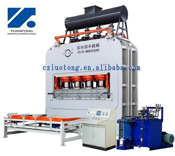 Short Cycle Melamine Laminating Hot Pressautomatic lamination line