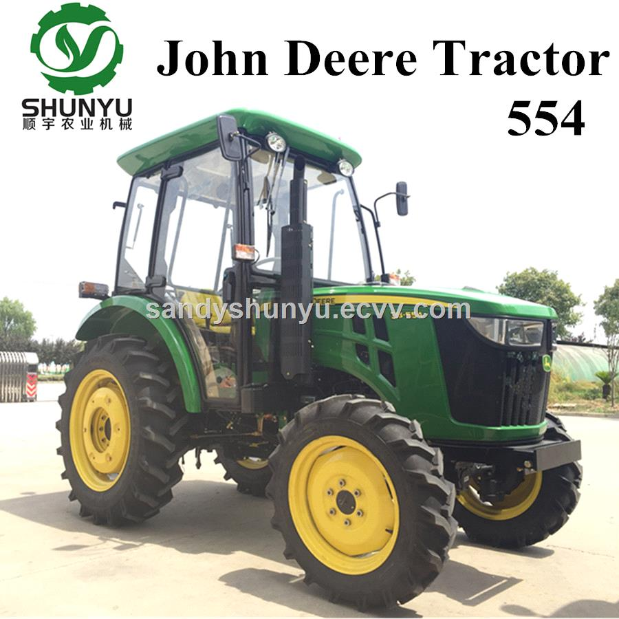 John Deere 554 55hp 4wd tractor with cab