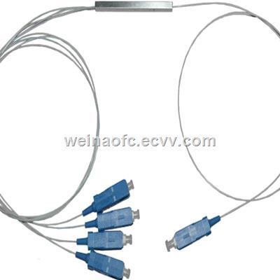 Optic Fiber Coupler Splitter 1x4 PLC with connector SCPC