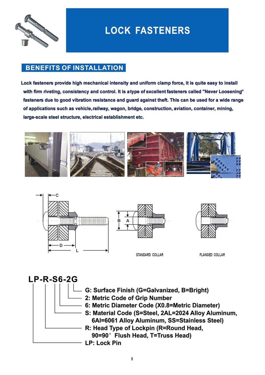 88 grade carbon steel fastener huck bolt