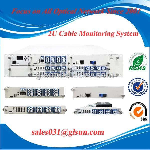 2U Chassis Fiber Optical Cable Monitoring System OPD OSW OTDR