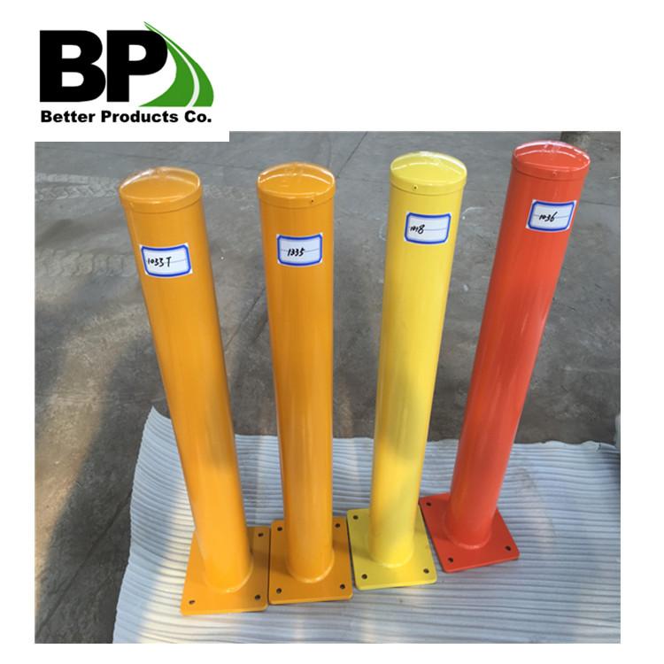 Powder coated yellow steel bollard hot sales