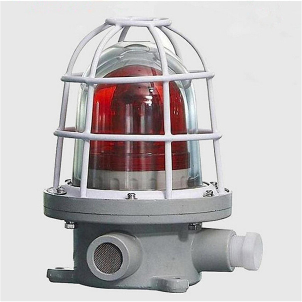 Explosion proof led red alarm warning light with sound BBJ 220V