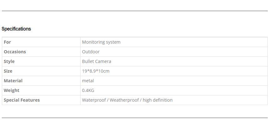 Outdoor Wireless Waterproof Camera