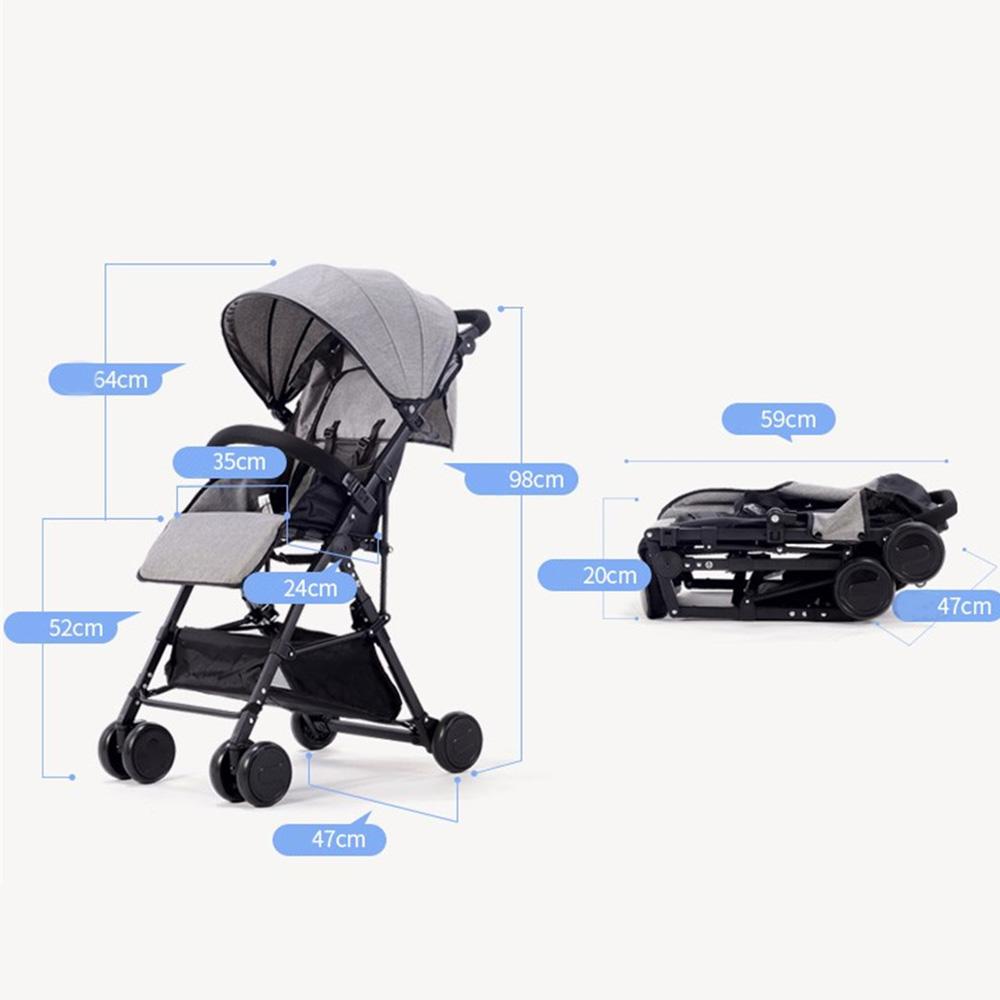 Ultralight portable folding baby travel stroller