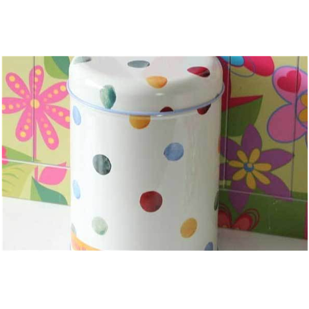 Dot Print Storage Metal Tea Tin Box