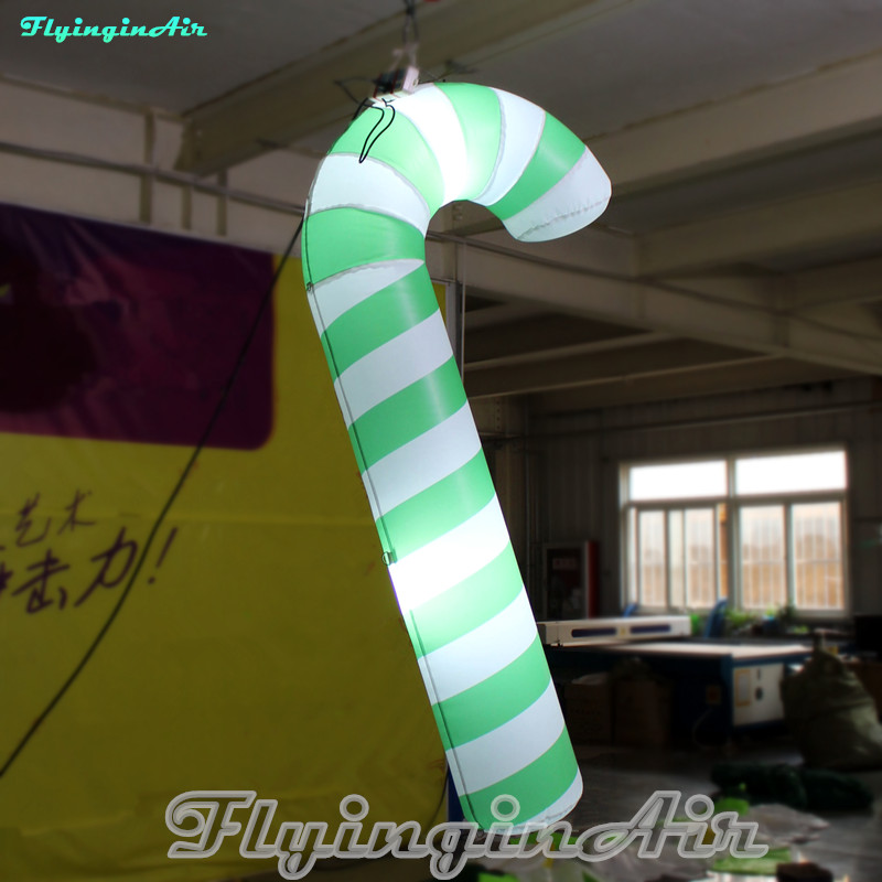 2m Inflatable Christmas Pendant Hanging Lighted Candy Cane with Lights
