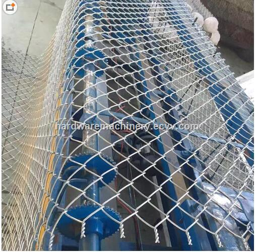 25120mm hole double wire feeding Fully Automatic Chain Link Fence Machine