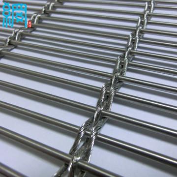 Architectural Woven Metal Wire Mesh FacadesBarrette WeaveCable Mesh System