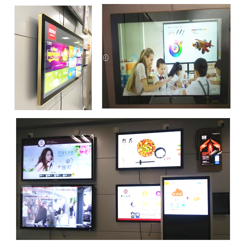 22 98 Indoor Wall Mounted LCD DIGITAL SIGNAGE Customized for Multimedia Advertising Player Display High Brightness