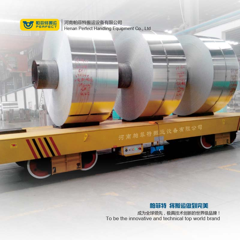 China Made Custom Handling Power Dolly Transfer Steel Coil Material