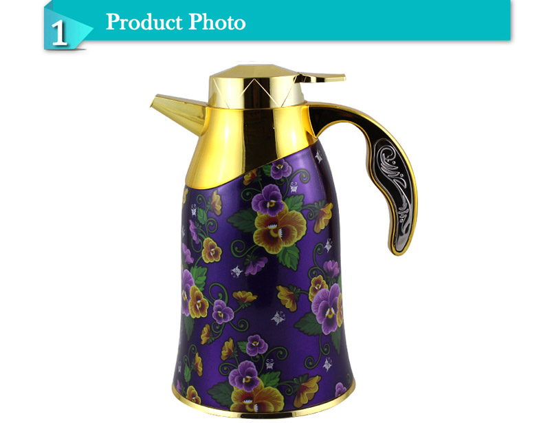 Wonderful New Design Pattern Glass Inner Vacuum Coffee Jug Thermos Flask