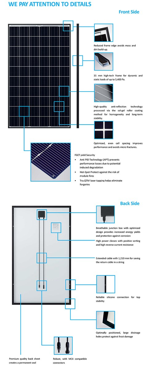 60W Photovoltaic Module Poly Solar Panel with Aluminum Frame
