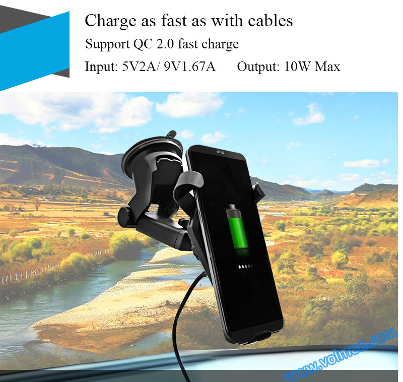 Fast Wireless Charger for car best sale Qi Wireless Charger