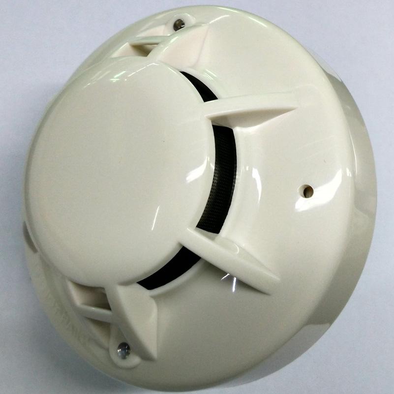 DC Powered 4Wire Optical Photoelectric Smoke Detector Smoke Sensor Alarm With Relay Output