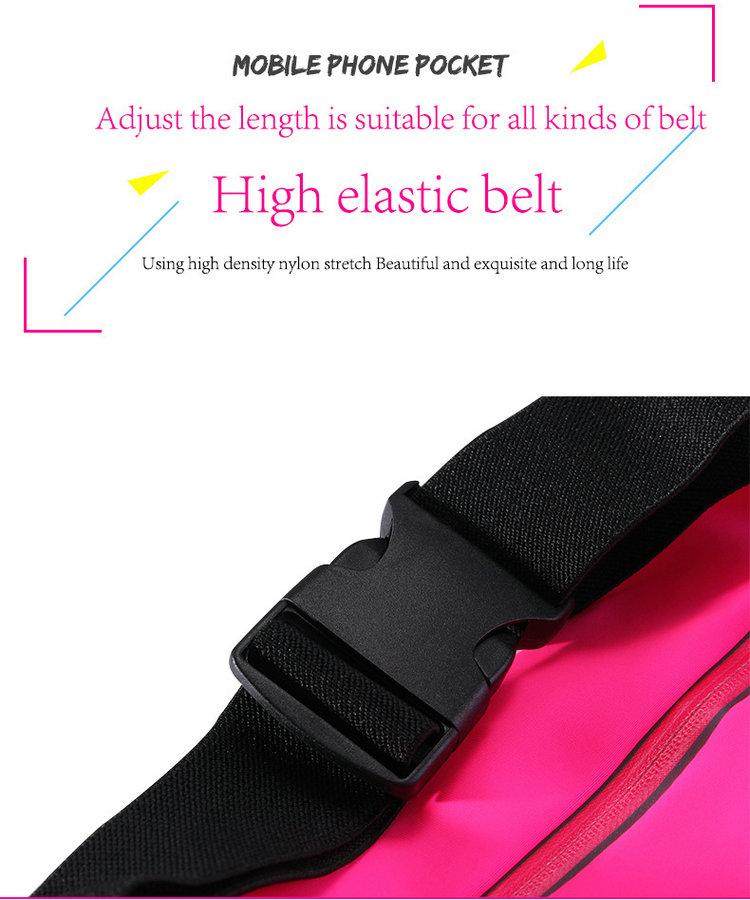 Hot Sale Running Touch Screen Phone Waterproof Waist bag