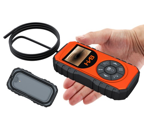 New productCar diagnostic tool 55mm Video Borescope with 1m camera probe coiled inside the case for storage