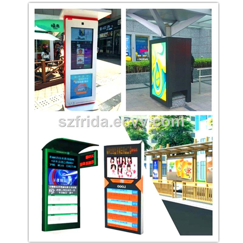 47 Inch Outdoor TFT LCD DIGITAL SIGNAGE Floor Standing Advertising Player Display High Brightness Temperature Control