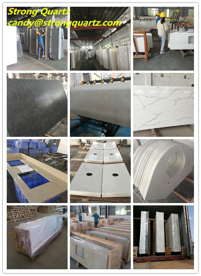 Black quartz countertops from China Factory