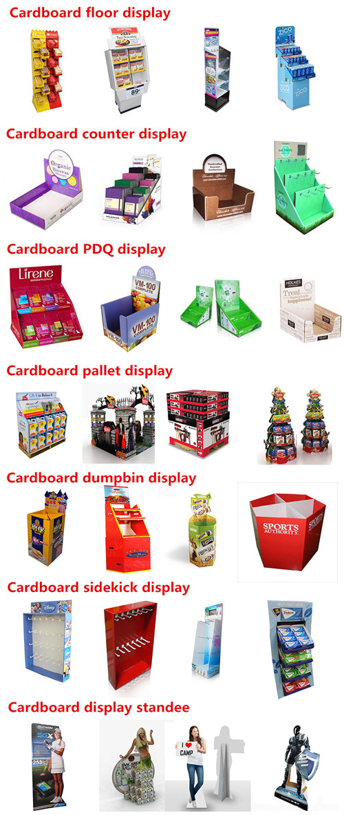 Cardboard Dumpbin Display with 4C offset printing POPPOS Cardboard DVD Display stand factory Chin