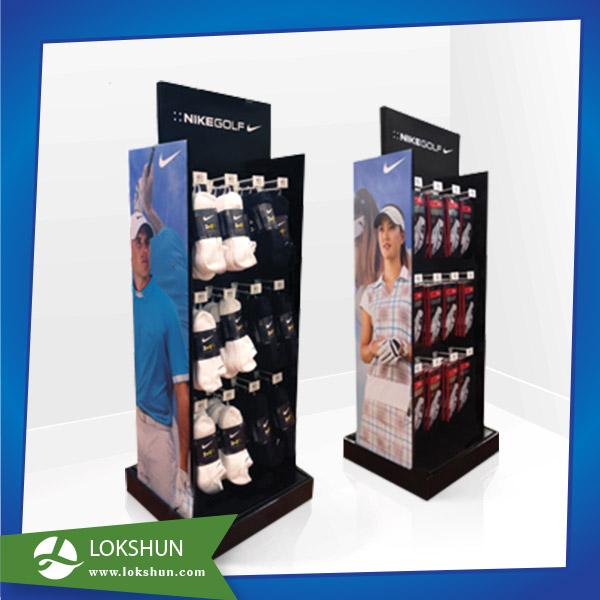 2sided Customized Cardboard Hook Display for Socks OEM POP cardboard Floor Display