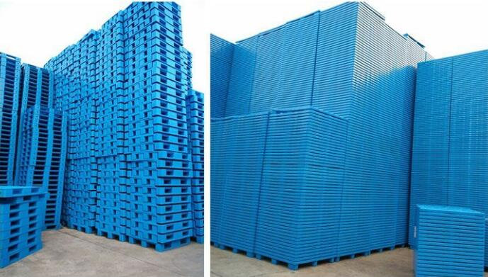 EU Standards 12001000140mm HDPE Plastic Pallet Nine Feet 4Way Sigle Side Plastic Tray YX1210A