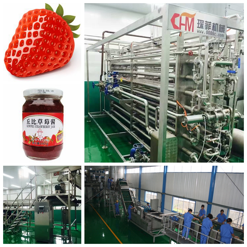 turnkey strawberry jam processing line