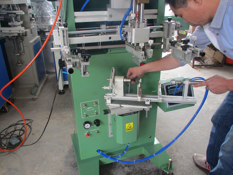 TM250s Cylinder Surface Screen Printing Machine for Cup Bottle Pipe