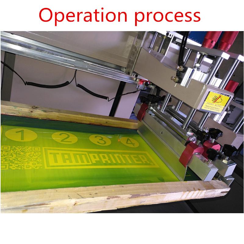 TMD6090 Electric Precision vertical plane screen printing machine for plastic