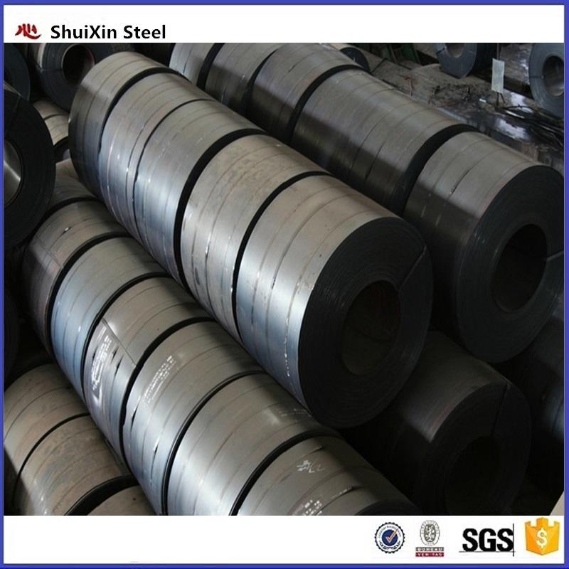 Narrow width hot rolled black steel strip