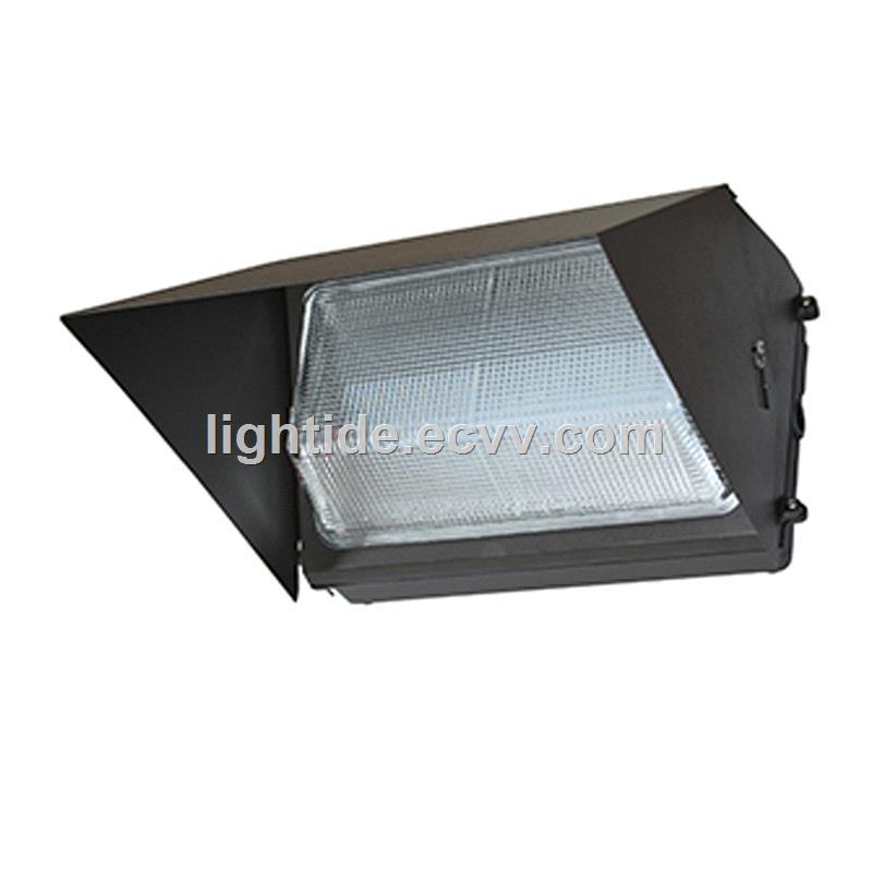 DLC Qualified Semi Cutoff LED Wall Pack LightsGlass Refractor 60W 5 year warranty