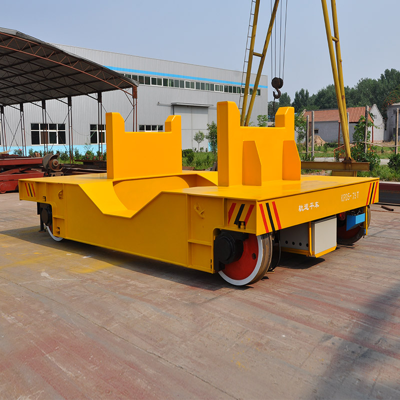 High Temperature Steel Ladle Transfer Car Battery Powered Cart Low Noise