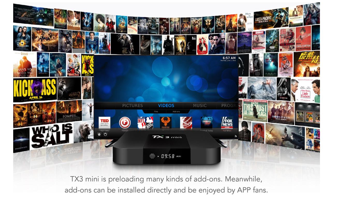 1G8G TX3MINI S905W Android 71 TV box factory wholesale WiFi HDMI 4K HD OTT IP TV BOX Network Set top box