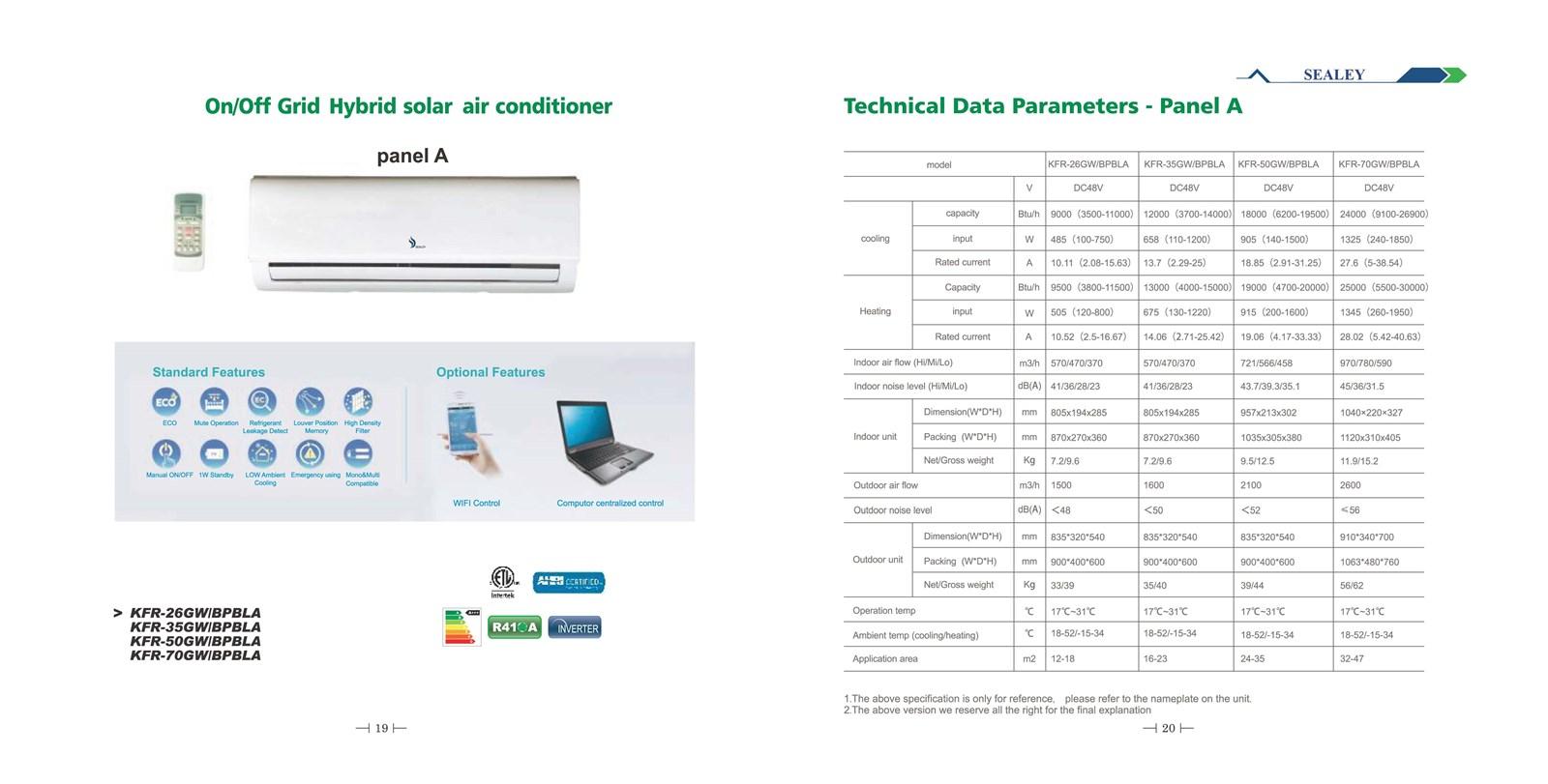 Onoff Grid Solar Air Conditioner