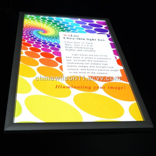 China factory supply top seller aluminum frame snap open advertising led slim light box