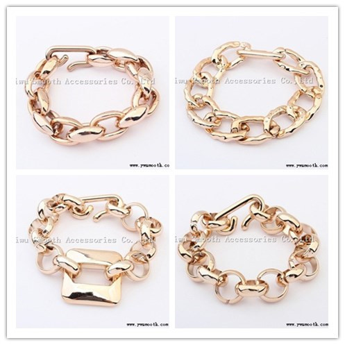 Fashion Personality Rough Chain Gold Chain Buckle Bracelet Female Jewelry