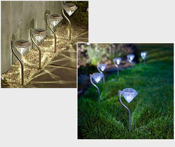 Solar Lamp for Garden LED Lawn Light Outdoor Lighting Diamond Path Light