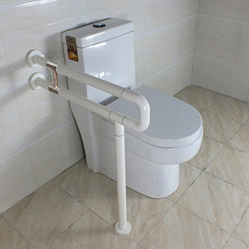 IBAMA Toilet Safety Frame Rail Shower Grab Bar for Home and HotelStainless Steel Coated With White Nylon
