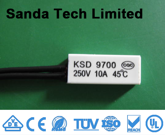 Temperature Overload KSD9700 NC normally closed Auto Reset Thermal Protector