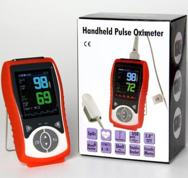 Temperature Probe Veterinary Handheld Pulse Oximeter SpO2 Heart Rate Continuous Detection Pets High Configuration