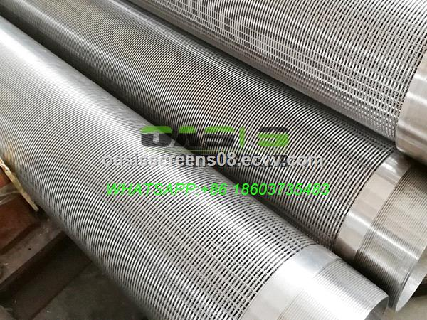 Stainless Steel SS304 Water Well Wire Wrapped Johnson Screens