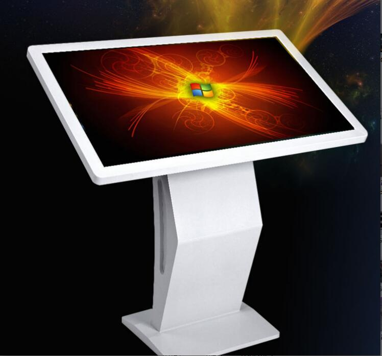 22 inch standing LCD touch table kiosk for school