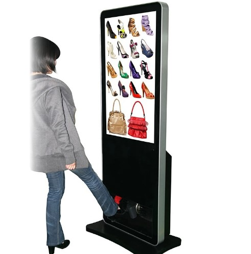 42 inch fhd floor stand indoor advertising LCD digital display with android systempc all in one screen