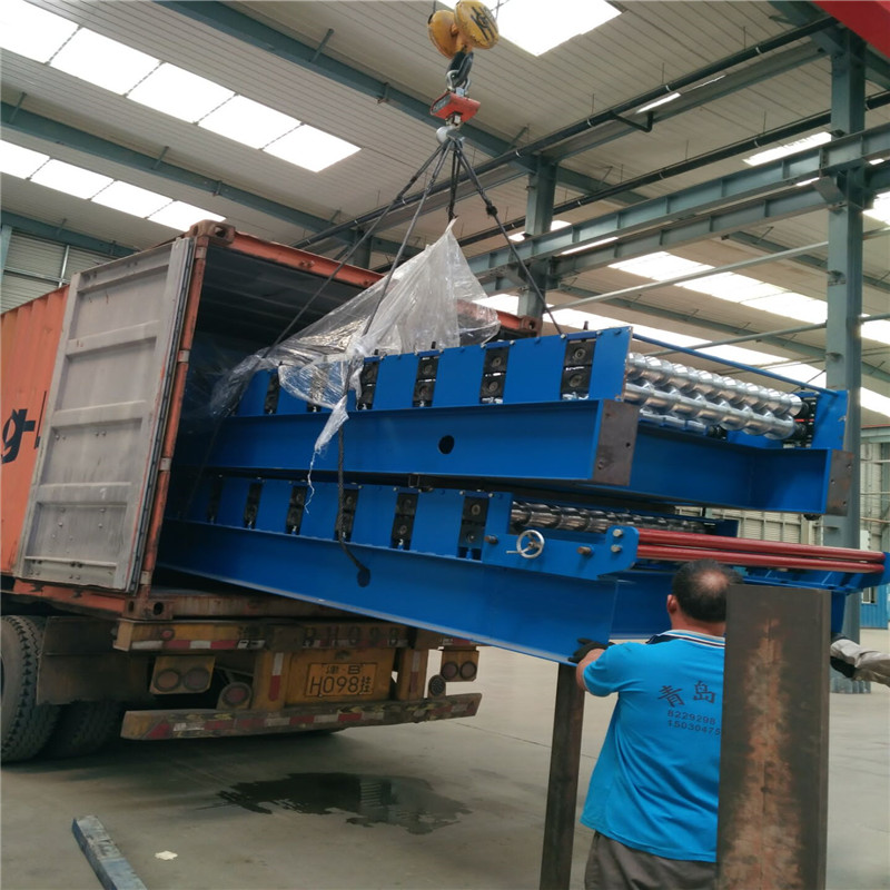 Speed Adjustable Roof Tile Roll Forming Machine