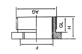 Hexagon Head metal stopping plug IP65