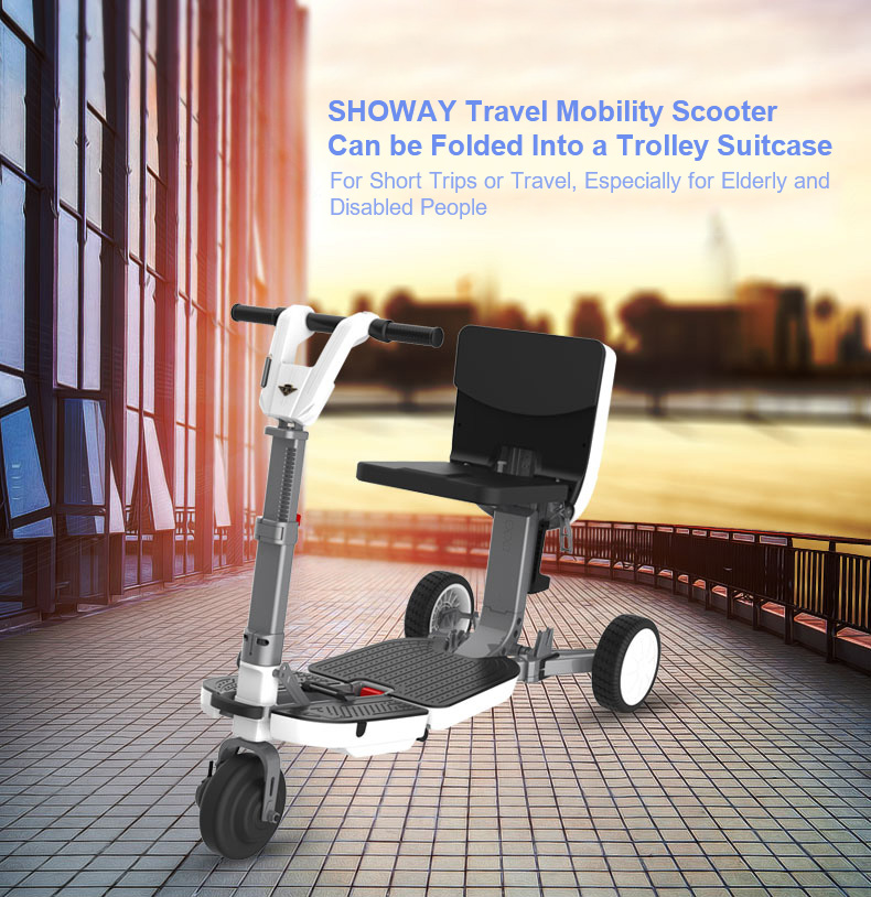 SHOTS01 Folding Travel Mobility Scooter for Short Trips or Travel Especially for Elderly and Disabled People