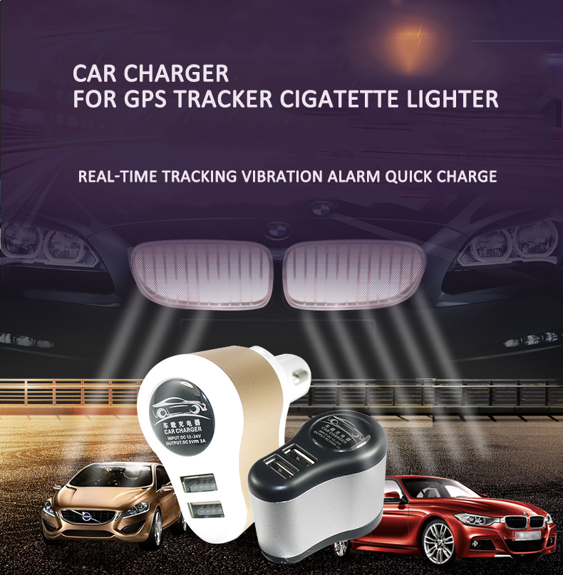 2018 New design Dual USB 32A fast charge technology intelligent shielding Car charger locator with historical track