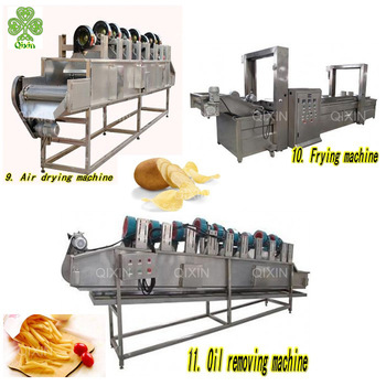Industrial and commercial automatic electric gas coal heating continuous deep potato french fries frying machie